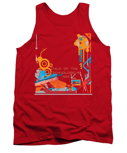Child Of The Technological Age Tank Top by Paulette B Wright