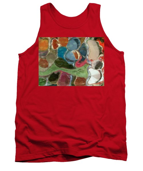 Blue Monks Tank Top by Kathie Chicoine