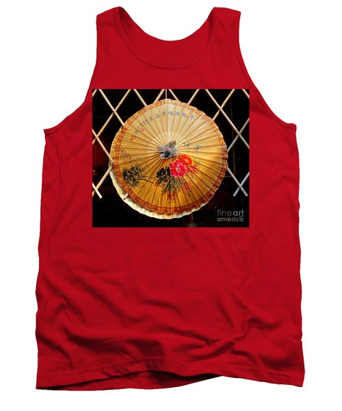 Tank Top featuring the photograph Chinese Hand-painted Oil-paper Umbrella by Yali Shi