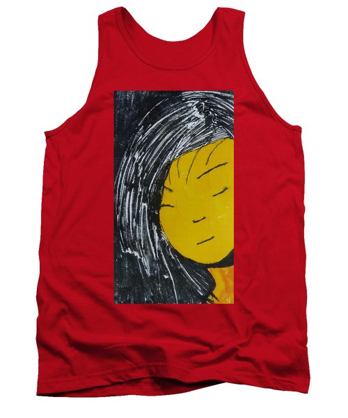 Chinese Japanese Girl Tank Top by Don Koester