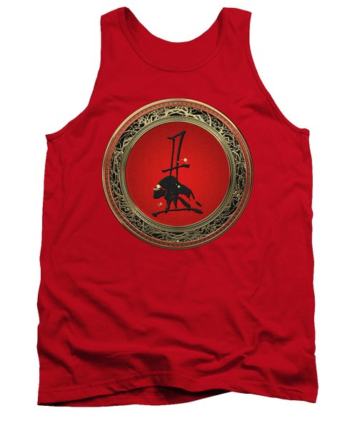 Chinese Zodiac - Year Of The Ox On Red Velvet Tank Top