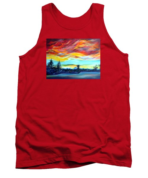 Chinook Arch Over Bow River Tank Top by Anna  Duyunova