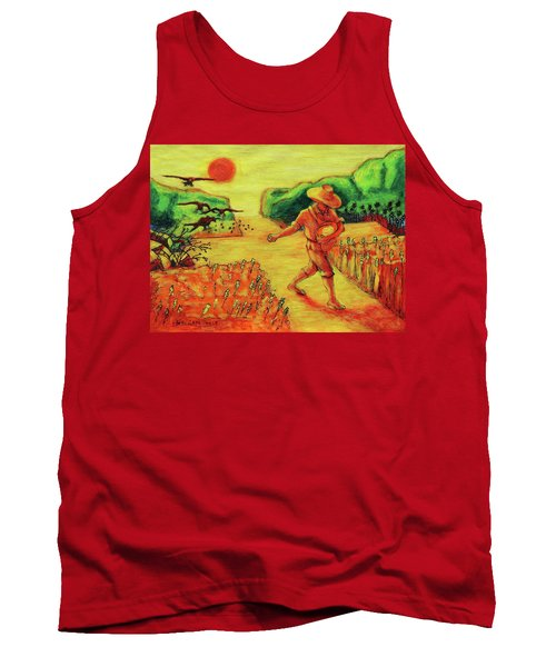 Christian Art Parable Of The Sower Artwork T Bertram Poole Tank Top by Thomas Bertram POOLE