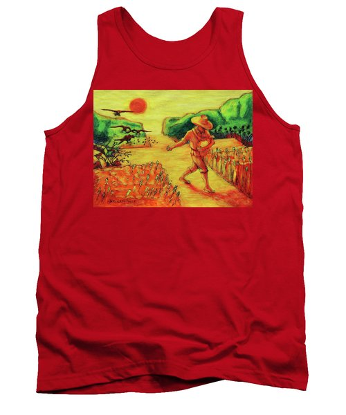 Tank Top featuring the painting Christian Art Parable Of The Sower Artwork T Bertram Poole by Thomas Bertram POOLE
