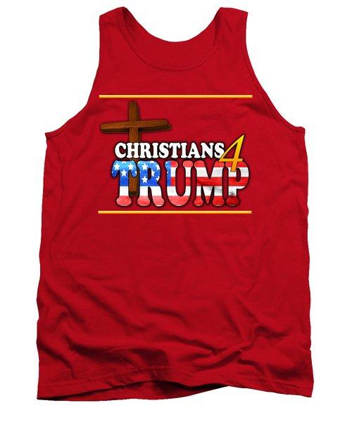Christians 4 Trump Cross Tank Top