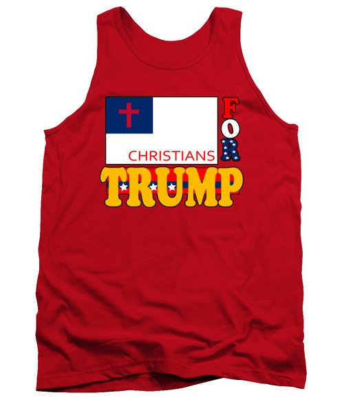 Christians For Trump Tank Top
