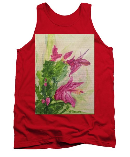 Christmas Cactus Tank Top by Wendy Shoults