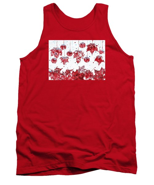 Christmas Decorations Of Nature Tank Top