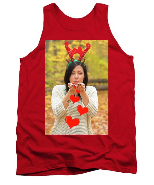Tank Top featuring the photograph Christmas Kisses.. by Nina Stavlund