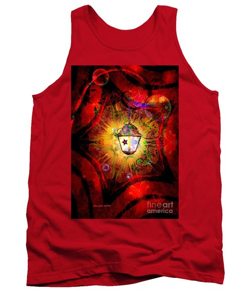 Christmas Lantern And Christmas Star Tank Top