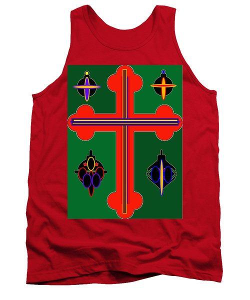 Christmas Ornate 3 Tank Top