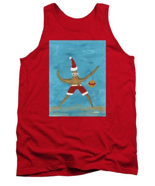 Christmas Starfish Tank Top by Jamie Frier