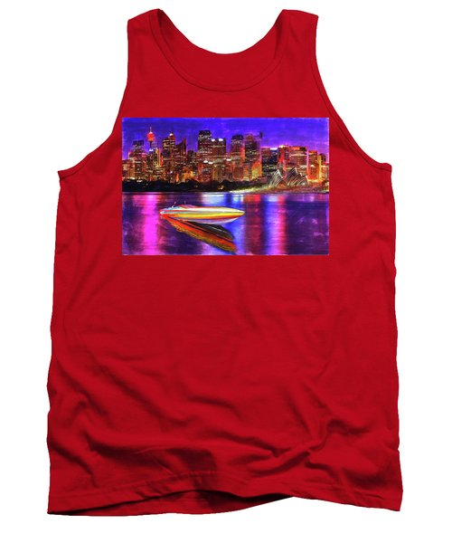 Tank Top featuring the painting Cigarette Calm by Michael Cleere