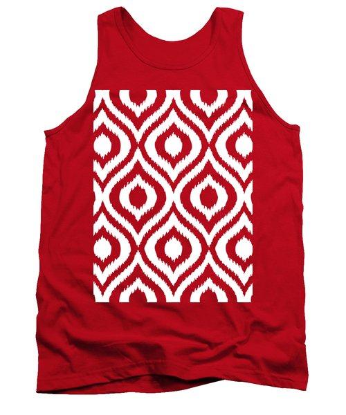 Circle And Oval Ikat In White N03-p0100 Tank Top