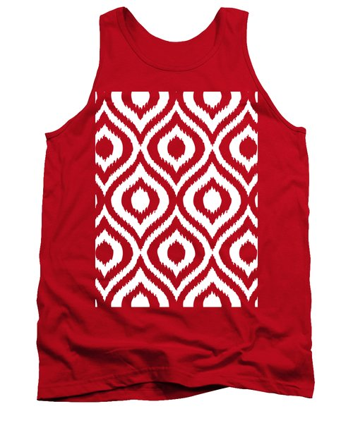 Circle And Oval Ikat In White T03-p0100 Tank Top