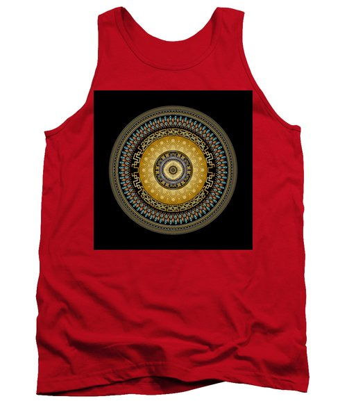 Circularium No 2642 Tank Top by Alan Bennington