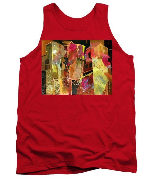 Tank Top featuring the painting City Colors by Rae Andrews