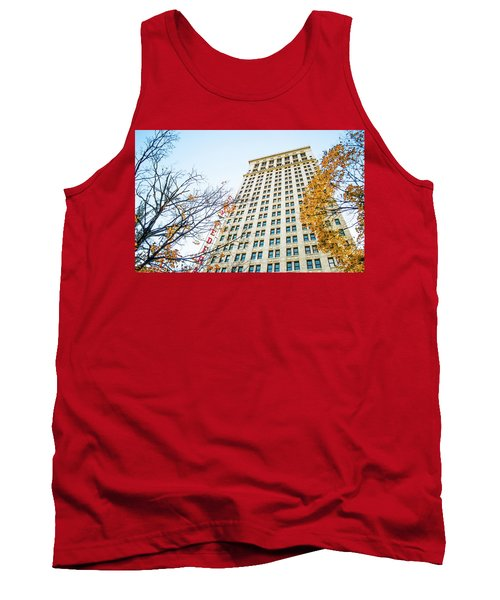 Tank Top featuring the photograph City Federal Building In Autumn - Birmingham, Alabama by Shelby Young