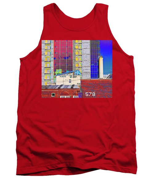 Tank Top featuring the photograph City Space by Vladimir Kholostykh