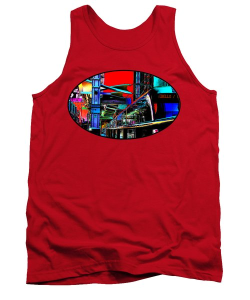 Tank Top featuring the photograph City Tansit Pop Art by Phyllis Denton