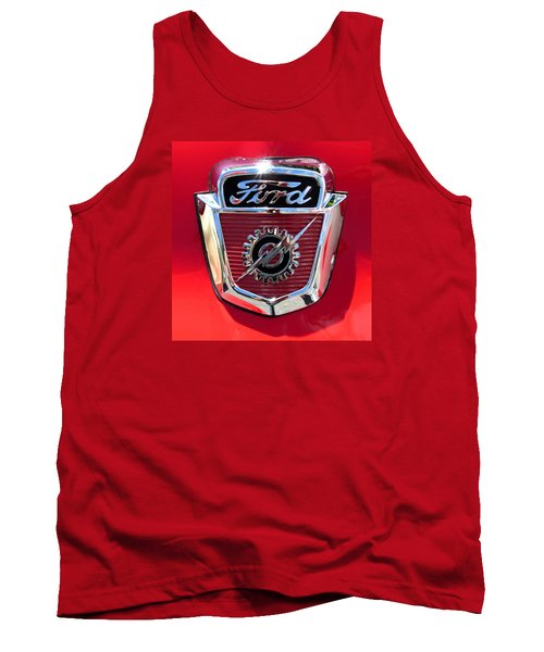 Tank Top featuring the photograph Classic Ford Logo by Spyder Webb