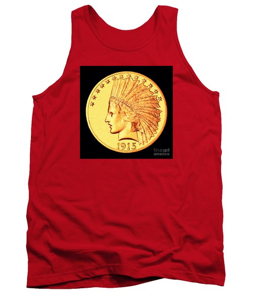 Classic Indian Head Gold Tank Top by Jim Carrell