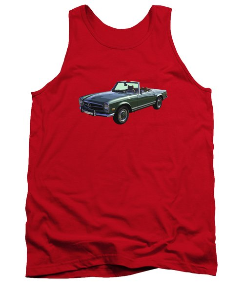 Classic Mercedes Benz 280 Sl Convertible Automobile Tank Top by Keith Webber Jr