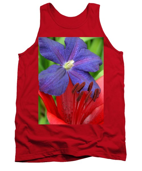 Clematis And Lily Tank Top