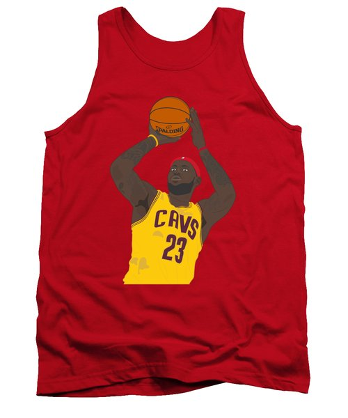 Cleveland Cavaliers - Lebron James - 2014 Tank Top by Troy Arthur Graphics