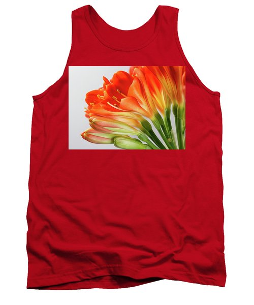 Clivia Miniata 2 Tank Top by Shirley Mitchell