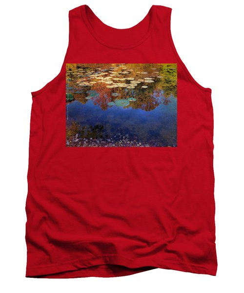 Close By The Lily Pond  Tank Top