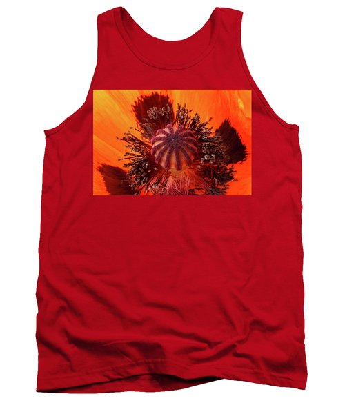 Close-up Bud Of A Red Poppy Flower Tank Top