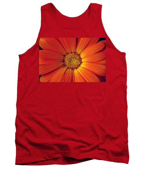Close Up Of An Orange Daisy Tank Top