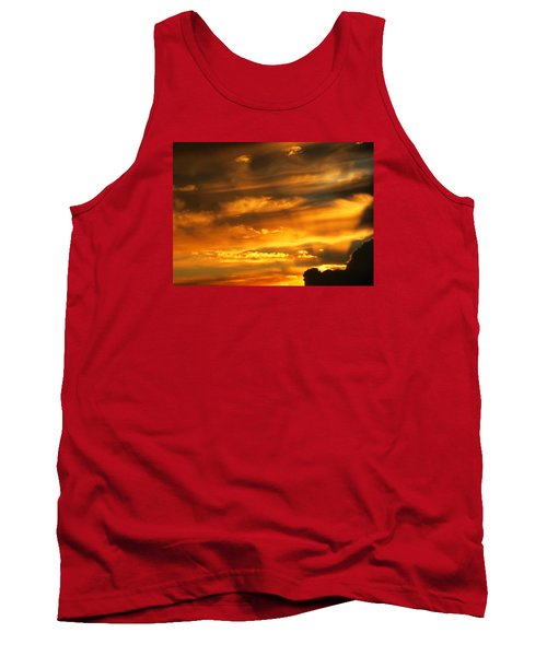 Clouded Sunset Tank Top by Kyle West