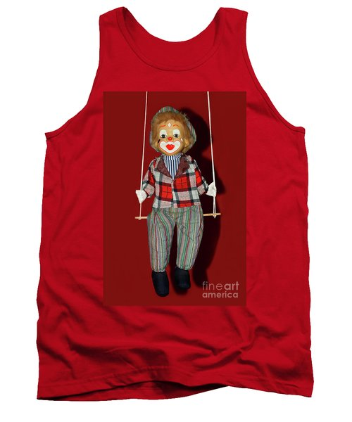 Tank Top featuring the photograph Clown On Swing By Kaye Menner by Kaye Menner