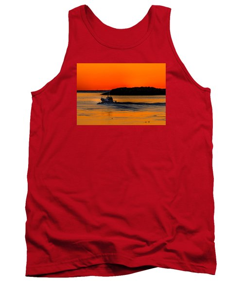 Tank Top featuring the photograph Coast Guard  by Jerry Cahill