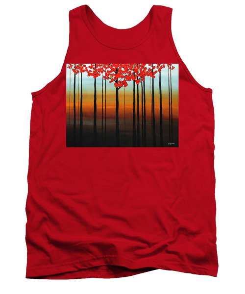 Tank Top featuring the painting Coastal Radiance by Carmen Guedez