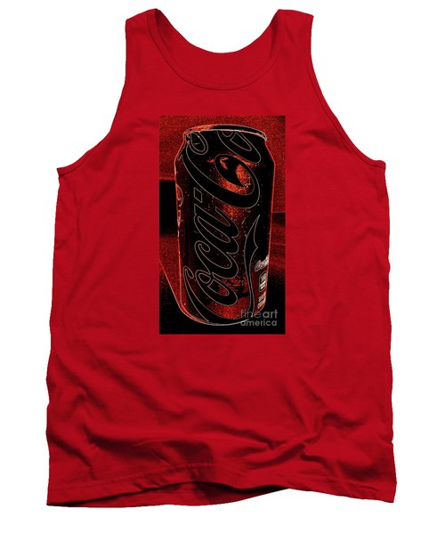 Tank Top featuring the photograph Coca Cola Can Coin Safe by Richard W Linford