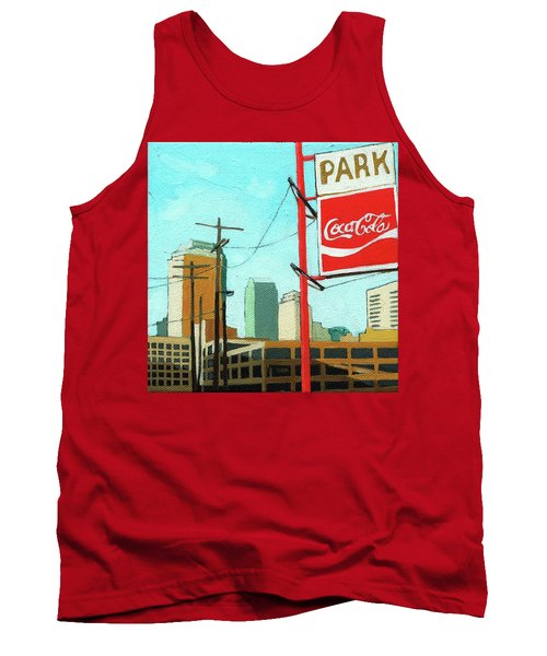 Tank Top featuring the painting Coca Cola Park by Linda Apple