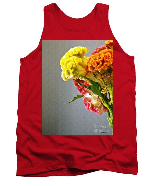 Tank Top featuring the photograph Cockscomb Bouquet 4 by Sarah Loft