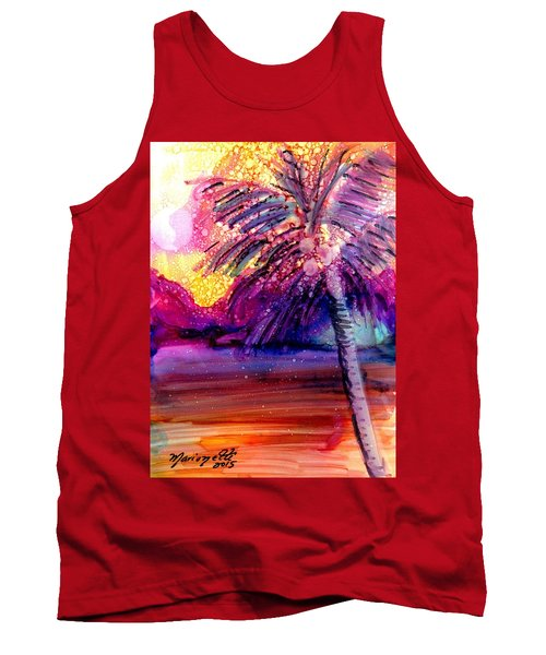 Coconut Palm Tree 2 Tank Top by Marionette Taboniar