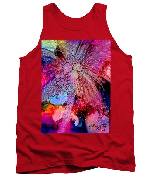 Tank Top featuring the painting Coconut Palm Tree 4 by Marionette Taboniar