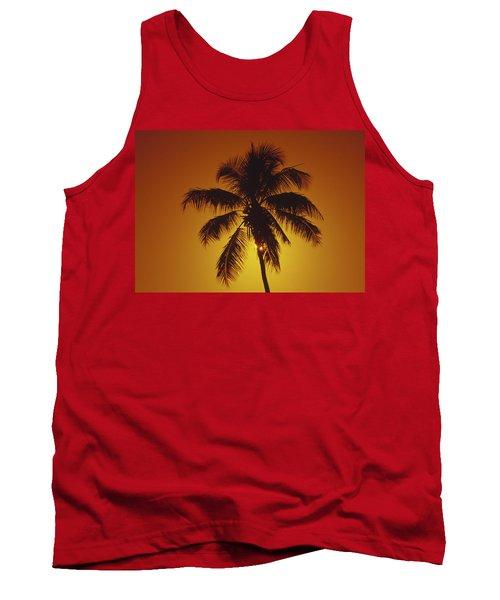 Coconut Palm Tree Sunset Tank Top