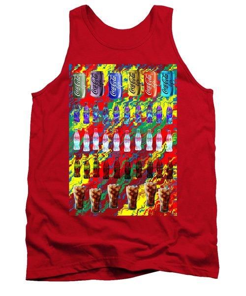 Tank Top featuring the digital art Coke Life, Happy Life by Saad Hasnain