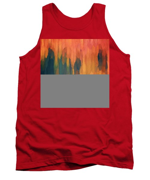 Tank Top featuring the digital art Color Abstraction L Sq by David Gordon