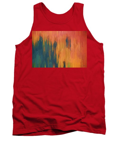 Tank Top featuring the digital art Color Abstraction Xlix by David Gordon