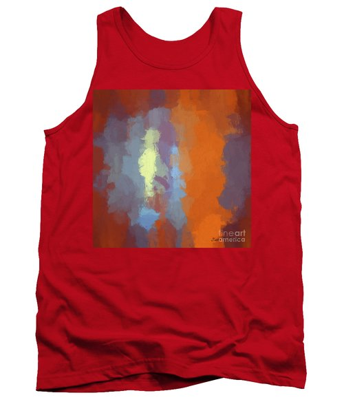 Color Abstraction Xxiii Sq Tank Top