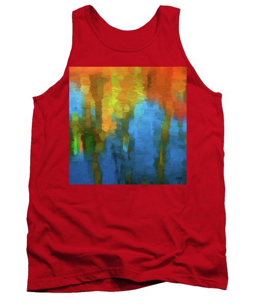 Color Abstraction Xxxi Tank Top by David Gordon