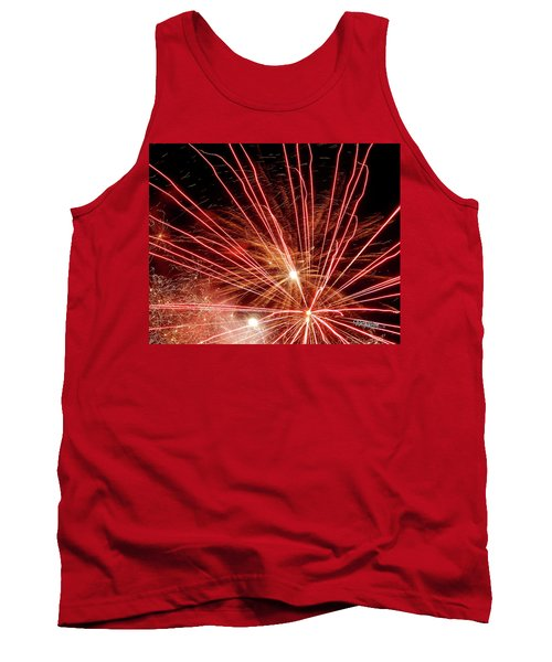 Tank Top featuring the photograph Color Blast Fireworks #0731 by Barbara Tristan