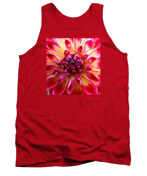 Color Burst Dahlia  Tank Top